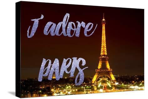 Paris Fashion Series - J'adore Paris - Eiffel Tower at Night IX-Philippe Hugonnard-Stretched Canvas Print