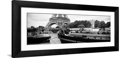 Paris sur Seine Collection - The Eiffel Tower and the Quays XVII-Philippe Hugonnard-Framed Art Print