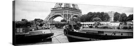 Paris sur Seine Collection - The Eiffel Tower and the Quays XVII-Philippe Hugonnard-Stretched Canvas Print