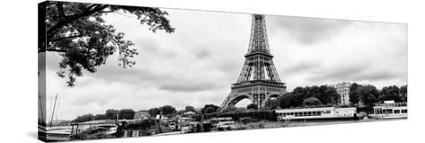 Paris sur Seine Collection - The Eiffel Tower and the Quays XV-Philippe Hugonnard-Stretched Canvas Print
