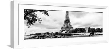 Paris sur Seine Collection - The Eiffel Tower and the Quays XV-Philippe Hugonnard-Framed Art Print