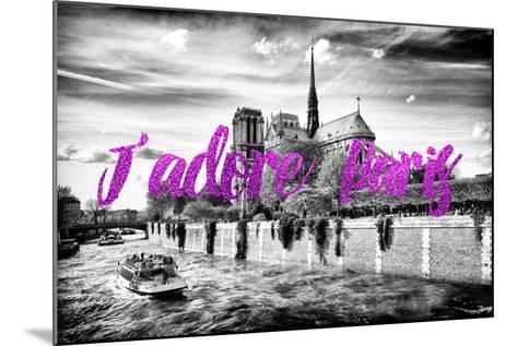 Paris Fashion Series - J'adore Paris - Notre Dame Cathedral II-Philippe Hugonnard-Mounted Photographic Print