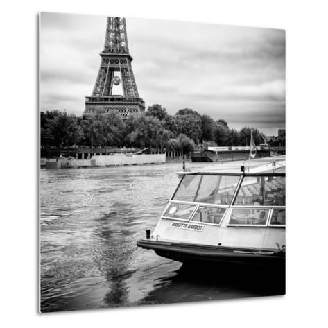 Paris sur Seine Collection - BB Boat III-Philippe Hugonnard-Metal Print