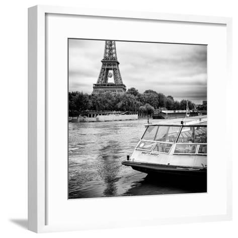 Paris sur Seine Collection - BB Boat III-Philippe Hugonnard-Framed Art Print