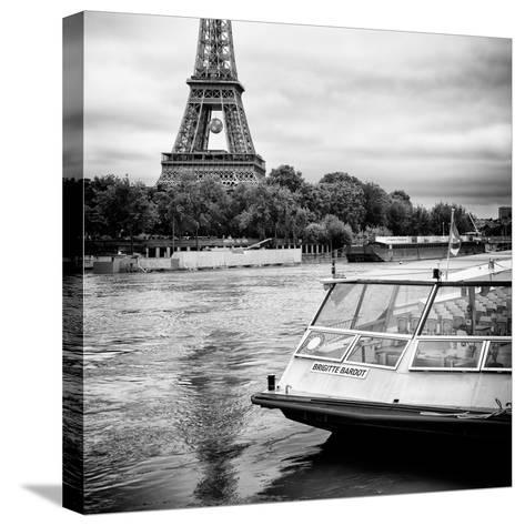 Paris sur Seine Collection - BB Boat III-Philippe Hugonnard-Stretched Canvas Print