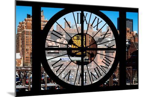 Giant Clock Window - View of New York Brick Buildings-Philippe Hugonnard-Mounted Photographic Print