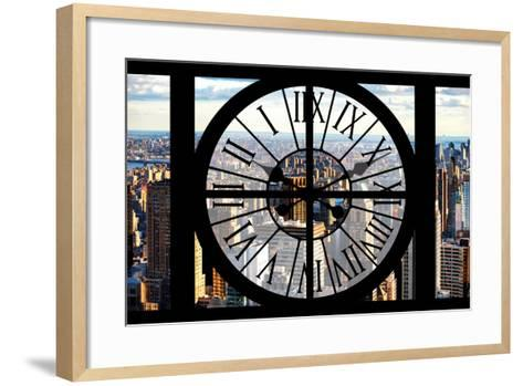 Giant Clock Window - View of New York City-Philippe Hugonnard-Framed Art Print