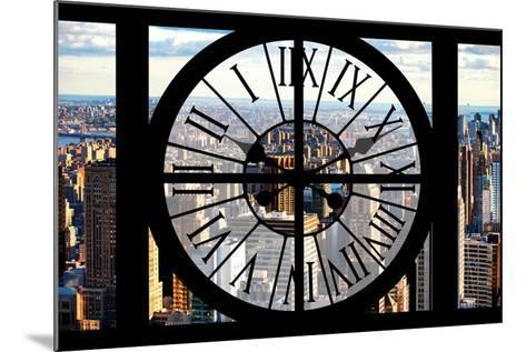 Giant Clock Window - View of New York City-Philippe Hugonnard-Mounted Photographic Print