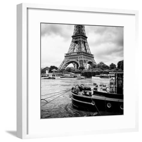 Paris sur Seine Collection - Vedettes de Paris VI-Philippe Hugonnard-Framed Art Print
