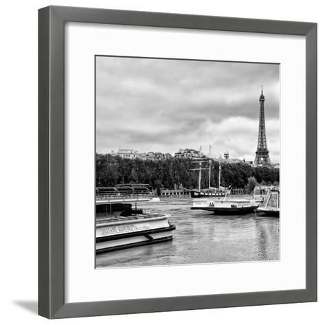 Paris sur Seine Collection - Bateaux Mouches XI-Philippe Hugonnard-Framed Art Print