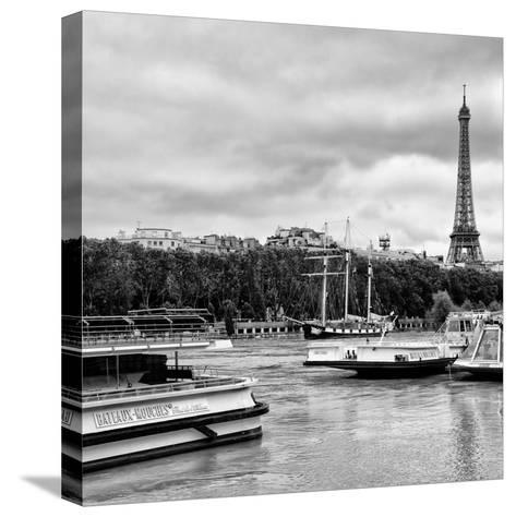 Paris sur Seine Collection - Bateaux Mouches XI-Philippe Hugonnard-Stretched Canvas Print