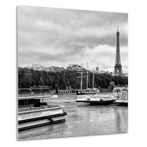 Paris sur Seine Collection - Bateaux Mouches XI-Philippe Hugonnard-Metal Print