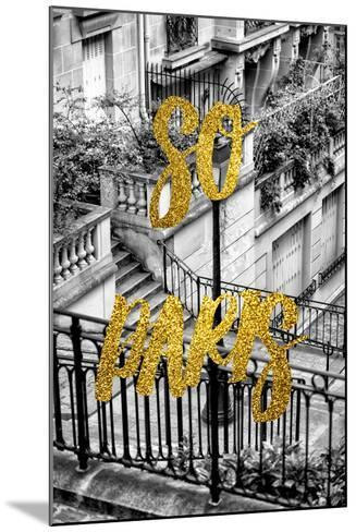 Paris Fashion Series - So Paris - Stairs of Montmartre-Philippe Hugonnard-Mounted Photographic Print
