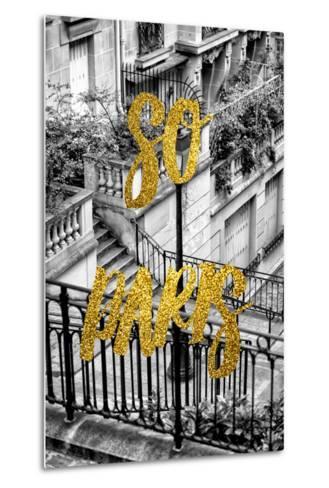 Paris Fashion Series - So Paris - Stairs of Montmartre-Philippe Hugonnard-Metal Print