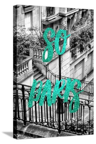 Paris Fashion Series - So Paris - Stairs of Montmartre II-Philippe Hugonnard-Stretched Canvas Print