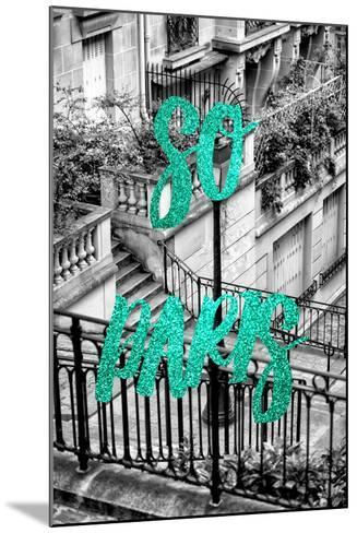 Paris Fashion Series - So Paris - Stairs of Montmartre II-Philippe Hugonnard-Mounted Photographic Print