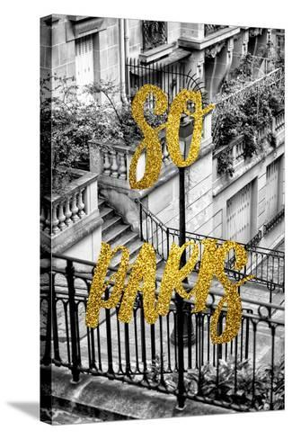 Paris Fashion Series - So Paris - Stairs of Montmartre-Philippe Hugonnard-Stretched Canvas Print