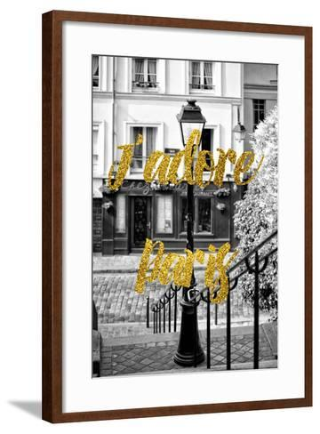 Paris Fashion Series - J'adore Paris - Stairs of Montmartre-Philippe Hugonnard-Framed Art Print