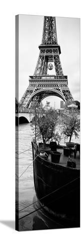 Paris sur Seine Collection - Destination Eiffel Tower III-Philippe Hugonnard-Stretched Canvas Print