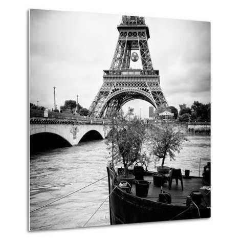 Paris sur Seine Collection - Destination Eiffel Tower II-Philippe Hugonnard-Metal Print