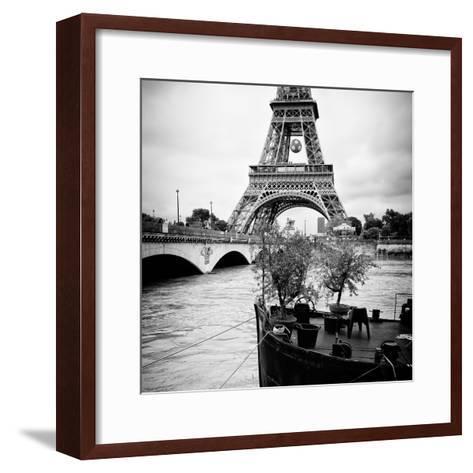 Paris sur Seine Collection - Destination Eiffel Tower II-Philippe Hugonnard-Framed Art Print