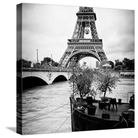Paris sur Seine Collection - Destination Eiffel Tower II-Philippe Hugonnard-Stretched Canvas Print