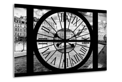 Giant Clock Window - View of the Quai de Seine in Paris IV-Philippe Hugonnard-Metal Print