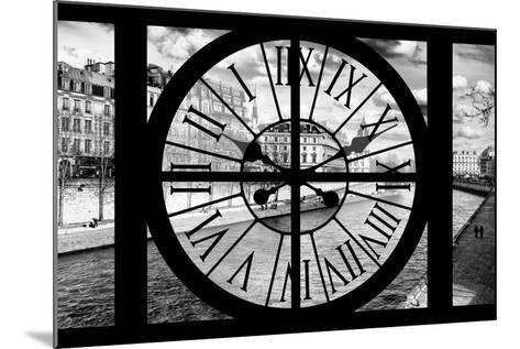 Giant Clock Window - View of the Quai de Seine in Paris IV-Philippe Hugonnard-Mounted Photographic Print