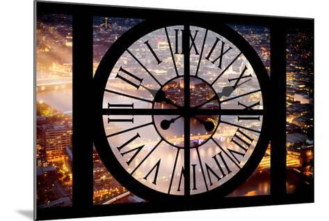 Giant Clock Window - View on the City of London by Night III-Philippe Hugonnard-Mounted Photographic Print