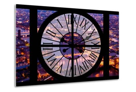 Giant Clock Window - View on the City of London by Night V-Philippe Hugonnard-Metal Print