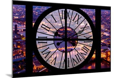 Giant Clock Window - View on the City of London by Night V-Philippe Hugonnard-Mounted Photographic Print