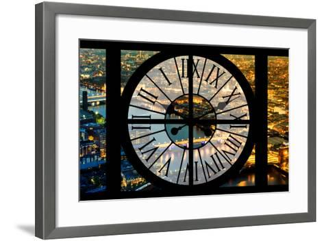 Giant Clock Window - View on the City of London by Night VI-Philippe Hugonnard-Framed Art Print