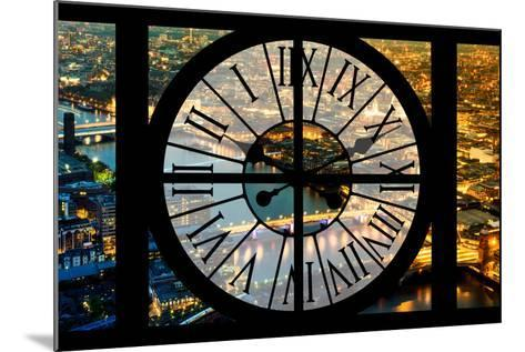 Giant Clock Window - View on the City of London by Night VI-Philippe Hugonnard-Mounted Photographic Print