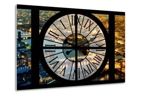 Giant Clock Window - View on the City of London by Night VI-Philippe Hugonnard-Metal Print