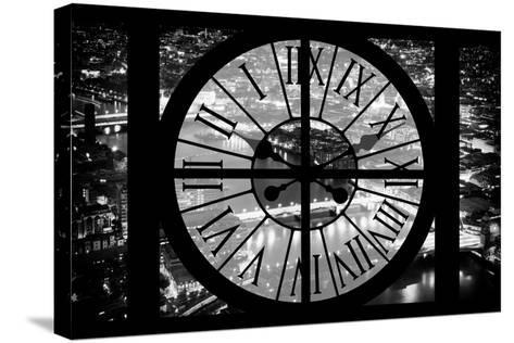 Giant Clock Window - View on the City of London by Night IV-Philippe Hugonnard-Stretched Canvas Print