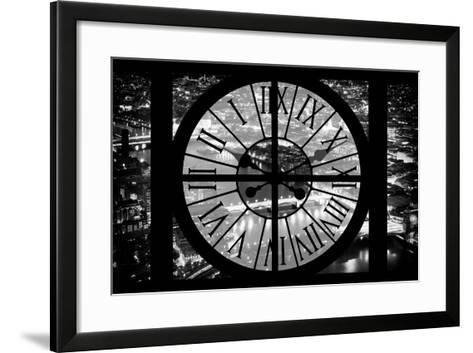 Giant Clock Window - View on the City of London by Night IV-Philippe Hugonnard-Framed Art Print