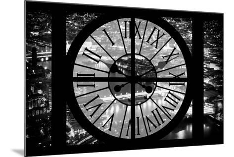 Giant Clock Window - View on the City of London by Night IV-Philippe Hugonnard-Mounted Photographic Print