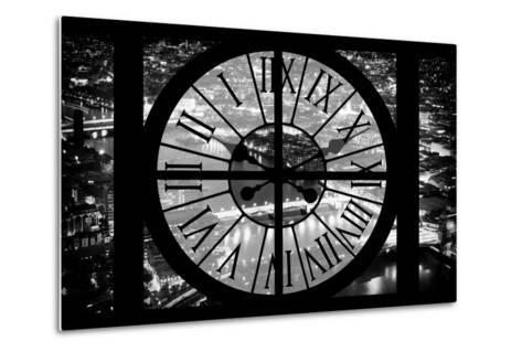 Giant Clock Window - View on the City of London by Night IV-Philippe Hugonnard-Metal Print