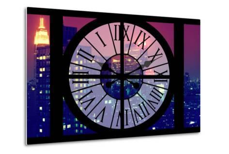 Giant Clock Window - View on the New York City - The New Yorker-Philippe Hugonnard-Metal Print