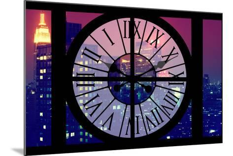Giant Clock Window - View on the New York City - The New Yorker-Philippe Hugonnard-Mounted Photographic Print