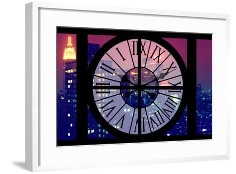 Giant Clock Window - View on the New York City - The New Yorker-Philippe Hugonnard-Framed Art Print