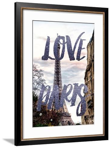 Paris Fashion Series - Love Paris - Eiffel Tower III-Philippe Hugonnard-Framed Art Print