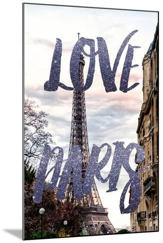 Paris Fashion Series - Love Paris - Eiffel Tower III-Philippe Hugonnard-Mounted Photographic Print