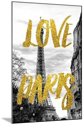 Paris Fashion Series - Love Paris - Eiffel Tower IV-Philippe Hugonnard-Mounted Photographic Print