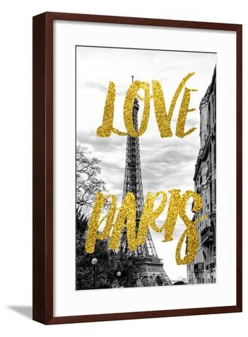 Paris Fashion Series - Love Paris - Eiffel Tower IV-Philippe Hugonnard-Framed Art Print