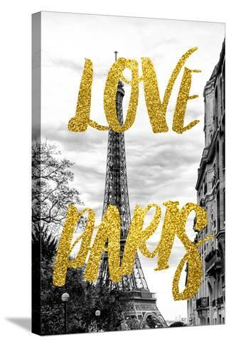 Paris Fashion Series - Love Paris - Eiffel Tower IV-Philippe Hugonnard-Stretched Canvas Print