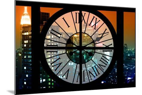 Giant Clock Window - View on the New York City - The New Yorker Sign-Philippe Hugonnard-Mounted Photographic Print