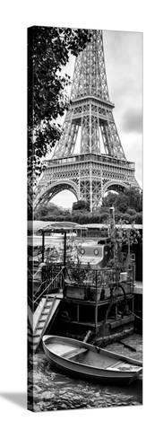 Paris sur Seine Collection - Eiffel Boat II-Philippe Hugonnard-Stretched Canvas Print