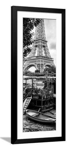 Paris sur Seine Collection - Eiffel Boat II-Philippe Hugonnard-Framed Art Print
