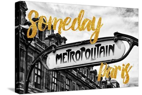 Paris Fashion Series - Someday Paris - Metropolitain-Philippe Hugonnard-Stretched Canvas Print